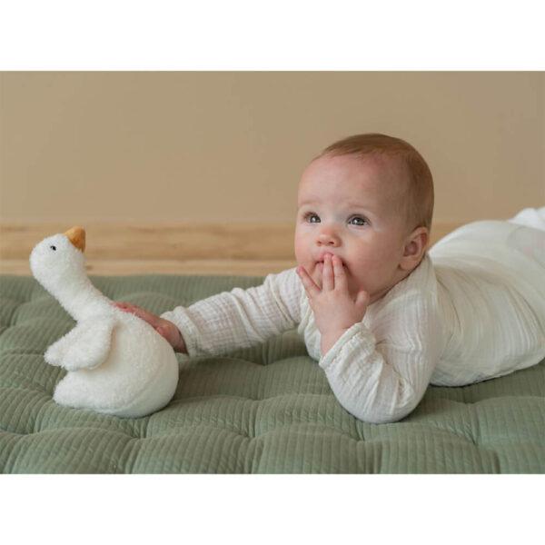 Jucarie hopa-mitica pentru bebelusi - Gasca - colectia Little Goose - Little Dutch