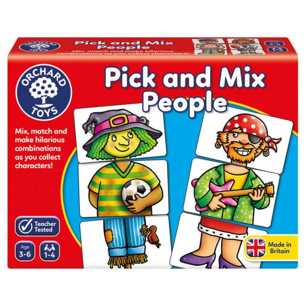 Joc educativ in limba engleza - Asociaza personajele - Pick and mix people - Orchard Toys