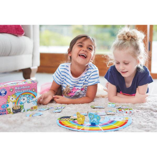 Joc educativ in limba engleza - Unicornii curcubeu - Rainbow Unicorns - Orchard Toys