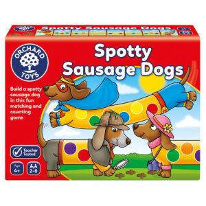 Joc educativ in limba engleza - Cateii patati - Spotty Sausage Dogs - Orchard Toys