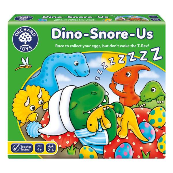Joc educativ in limba engleza - Dinozauri care sforaie - Dino Snore Us - Orchard Toys