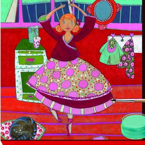 Atelier de pictura cu culori guase - Balerina - Djeco