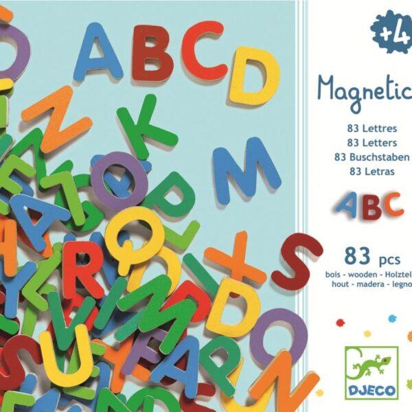Joc educativ - 83 Litere magnetice - Djeco