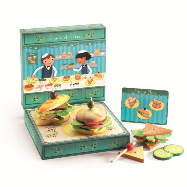 Jucarie din lemn - Sandwich maker - Djeco