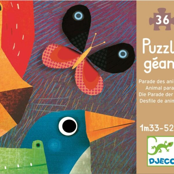 Joc Puzzle gigant - Parada animalelor - Djeco