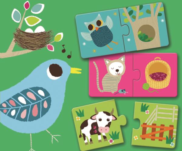 Puzzle din carton - Duo Habitat - Djeco