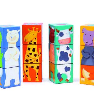 Jucarie indemanare - Cuburi animale amuzante - Djeco