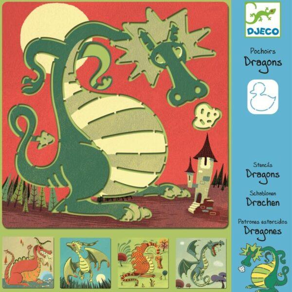 Joc creativ - Sabloane cu Dragoni - Djeco