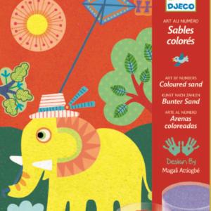 Joc creativ cu nisip colorat - Animale - Djeco