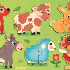 Puzzle din lemn pentru copii - Coucou - Djeco