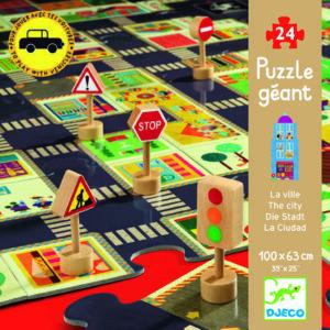 Joc pentru copii - Puzzle gigant - Orasul - Djeco