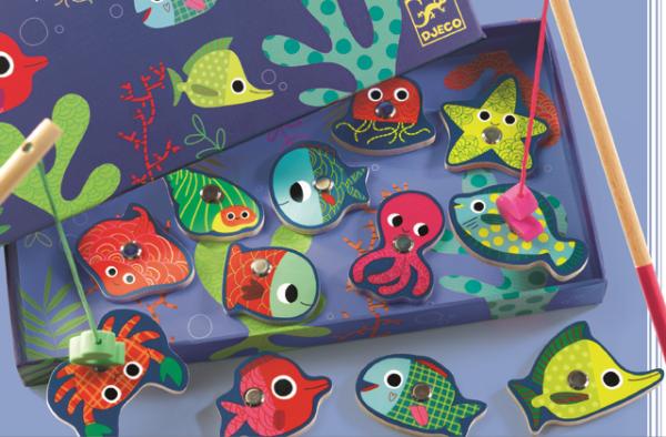 Joc de pescuit magnetic - Pesti colorati - Djeco