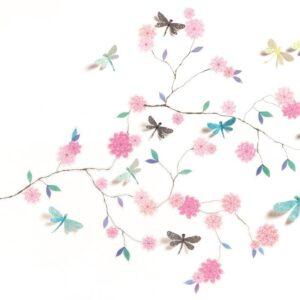 Abtibilduri de perete - Flori si libelule - Djeco