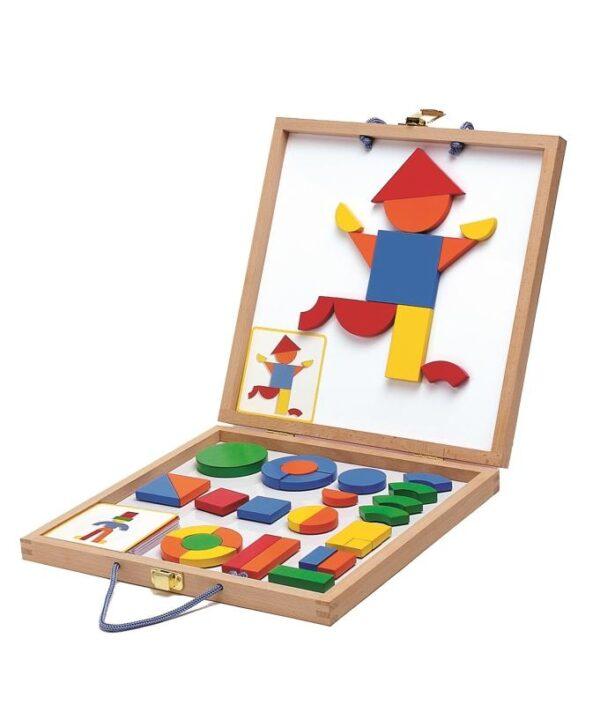 Joc cu magneti pentru copii - Geoforme - Djeco