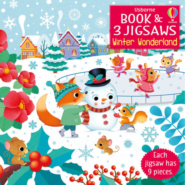 Carte cu Puzzle - Book and Jigsaw Winter Wonderland - Usborne