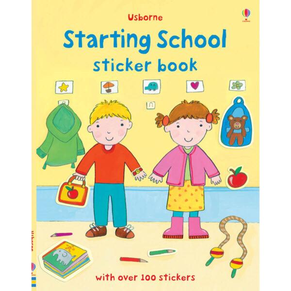 Carte pentru copii - Starting School Sticker Book - Usborne