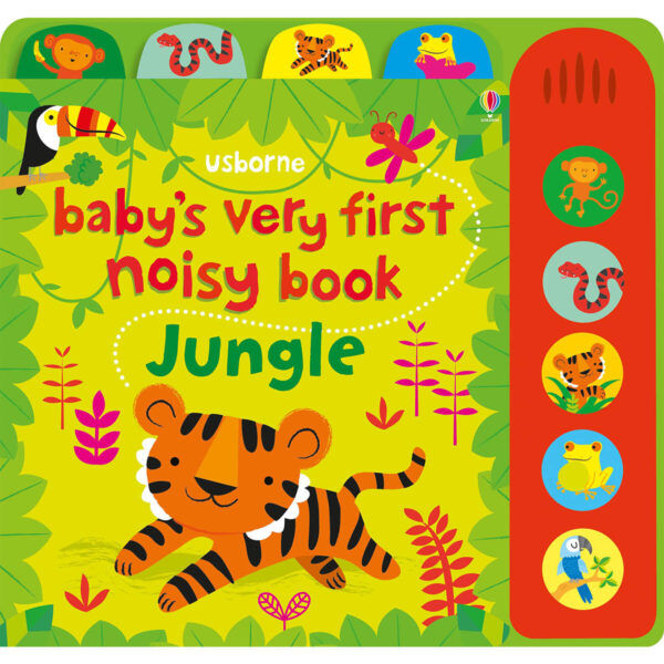 Carte pentru copii cu sunete - Baby's Very First Noisy Book Jungle - Usborne