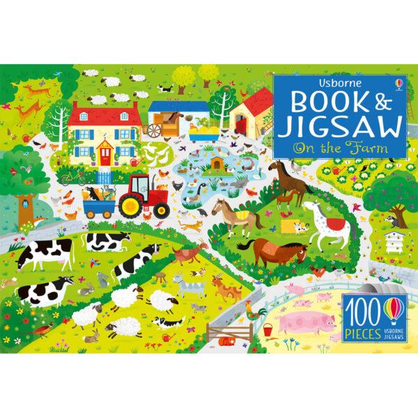 Carte cu Puzzle - Book and Jigsaw On the Farm - Usborne