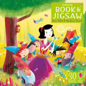 Carte cu Puzzle - Book and Jigsaw Snow White and the Seven Dwarfs - Usborne