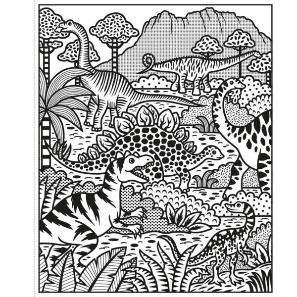 Carte pentru copii - Dinosaurs Magic Painting Book - Usborne