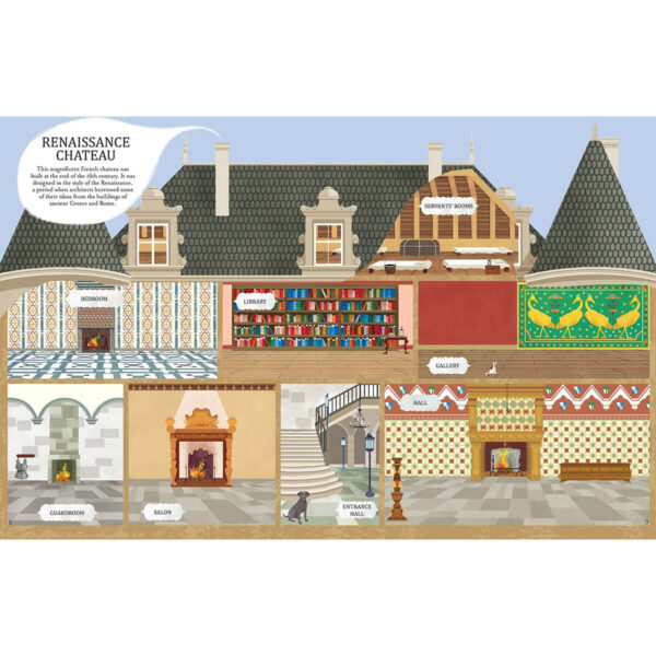 Carte pentru copii - Houses Through Time Sticker Book - Usborne