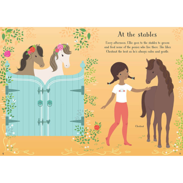 Carte pentru copii - Little Sticker Dolly Dressing Ponies - Usborne