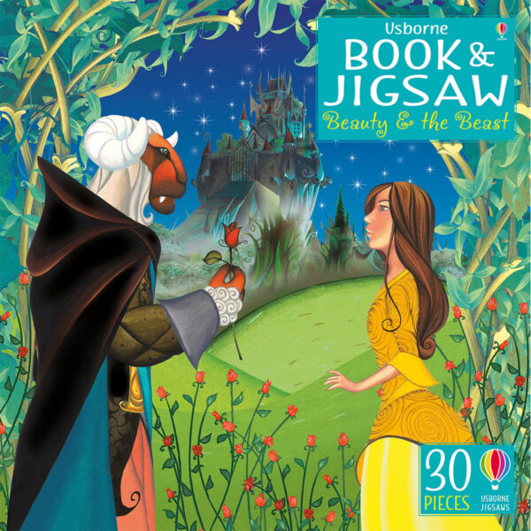 Carte cu Puzzle - Book and Jigsaw Beauty and the Beast - Usborne