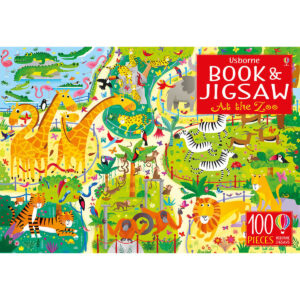 Carte cu Puzzle - Book and Jigsaw At the Zoo - Usborne