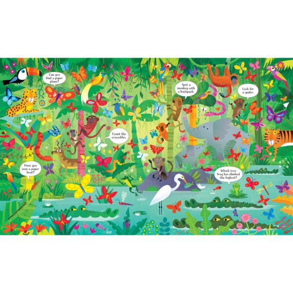 Carte cu Puzzle - Book and Jigsaw In the Jungle - Usborne
