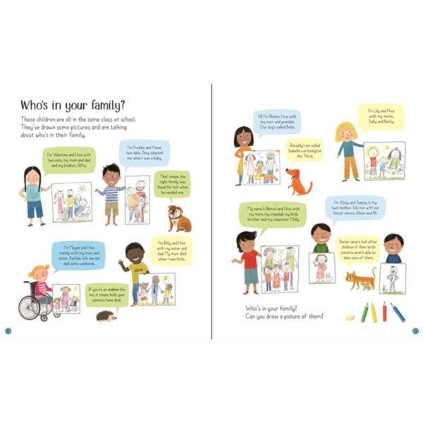 Carte pentru copii - All About Families - Usborne