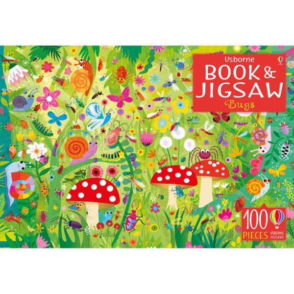 Carte cu Puzzle - Book and Jigsaw Bugs - Usborne