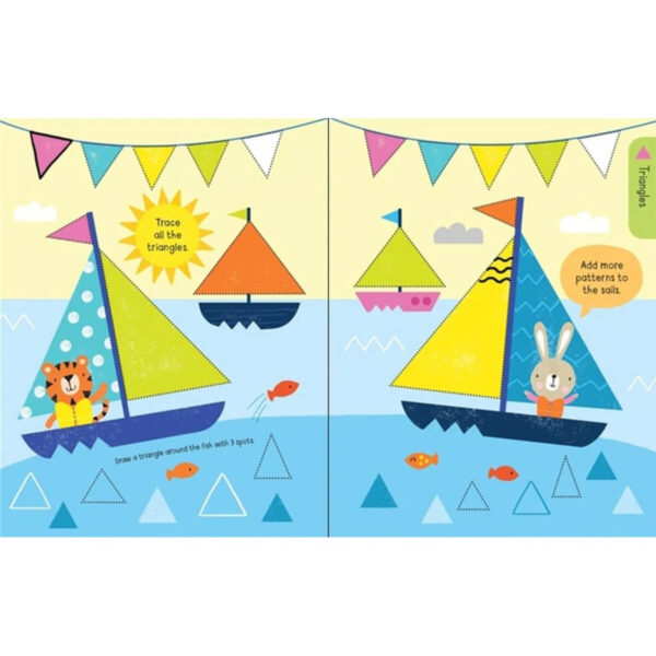 Carte pentru copii - Early Years Wipe-clean Shapes and Patterns - Usborne