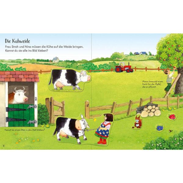 Carte pentru copii - Poppy and Sam's Animals Sticker Book - Usborne