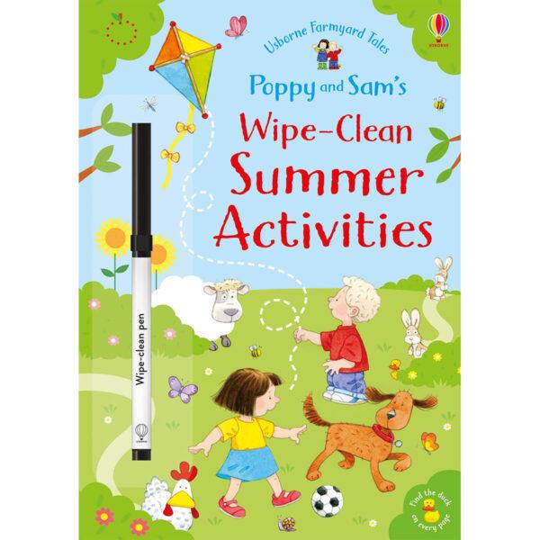 carte copii poppy and sam's wipe-clean summer activities