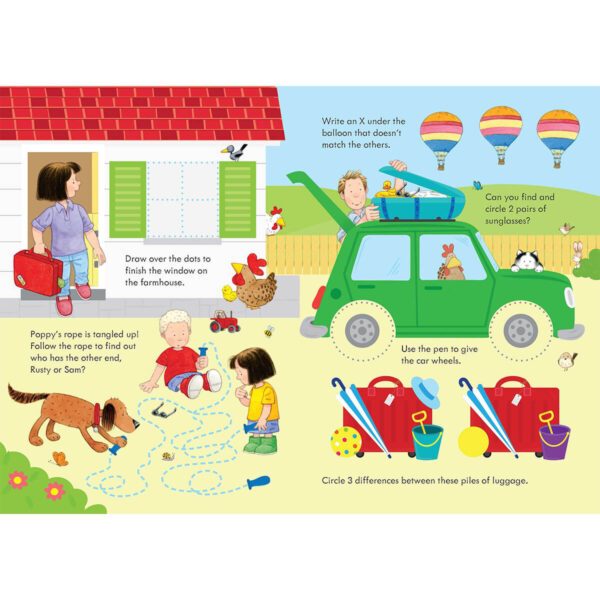 Carte pentru copii - Poppy and Sam's Wipe-Clean Summer Activities - Usborne