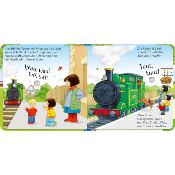 Carte pentru copii - Poppy and Sam's Noisy Train Book - Usborne