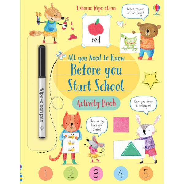 Carte pentru copii - Wipe-Clean All You Need to Know Before You Start School Activity Book - Usborne