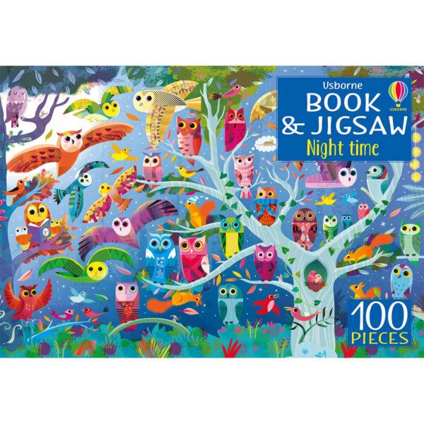 Carte cu Puzzle - Book and Jigsaw Night Time - Usborne