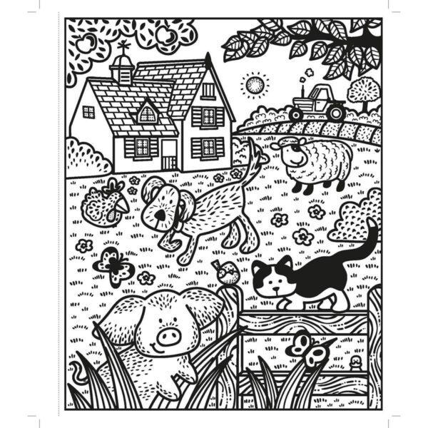 Carte pentru copii - Poppy and Sam's Farm Animals Magic Painting Book - Usborne