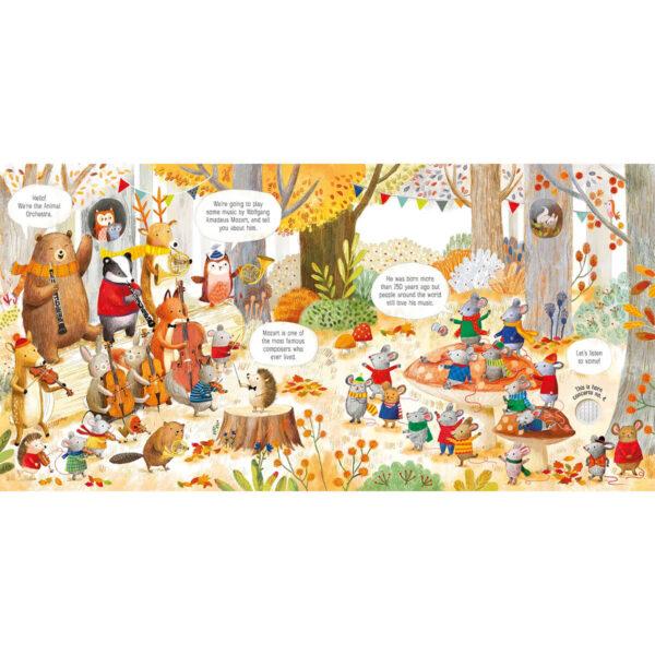 Carte pentru copii - The Animal Orchestra Plays Mozart - Usborne