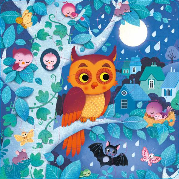 Carte cu Puzzle - Usborne Book and 3 Jigsaws: Night time - Usborne