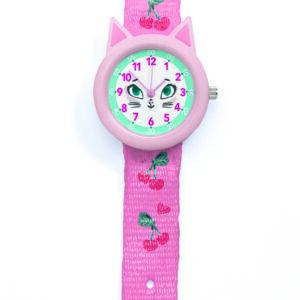 Ceas pentru fetita - Pisica - Djeco
