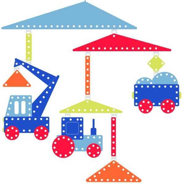 Decoratie mobila pentru camera copilului - Vehicule - Djeco