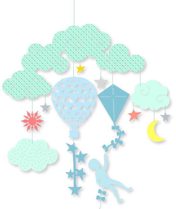 Decoratie mobila - Printre nori - Djeco