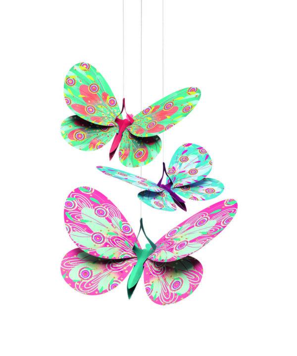 Decoratie camera copilului - Fluturi sclipitori - Djeco