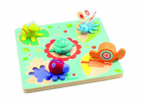 Puzzle in relief - Lilo Testoasa si prietenii - Djeco
