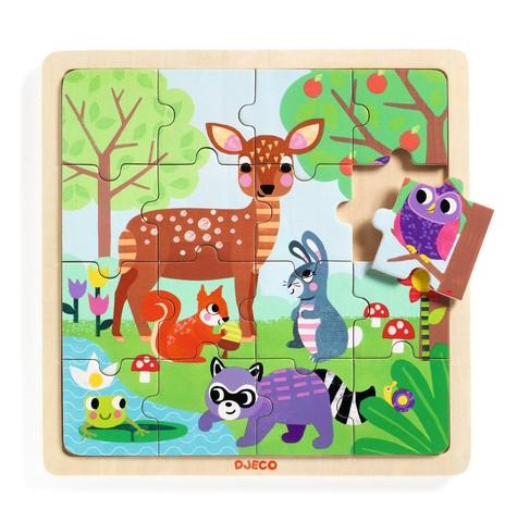 Puzzle din lemn - Forest - Djeco