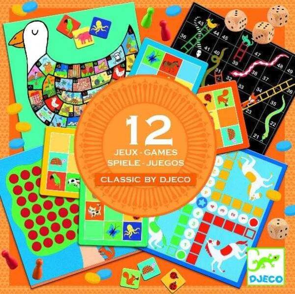 Colectie de 12 jocuri clasice - Djeco