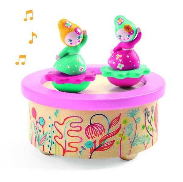 Cutie muzicala magnetica - Flori - Djeco