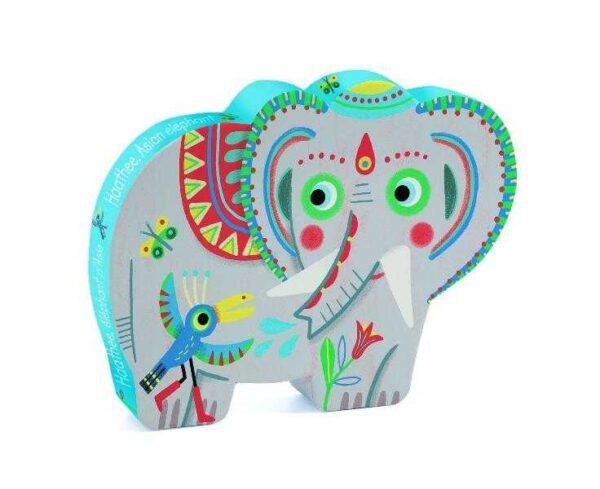Puzzle - Elefantul asiatic - Djeco